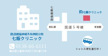 七飯クリニックのマップ